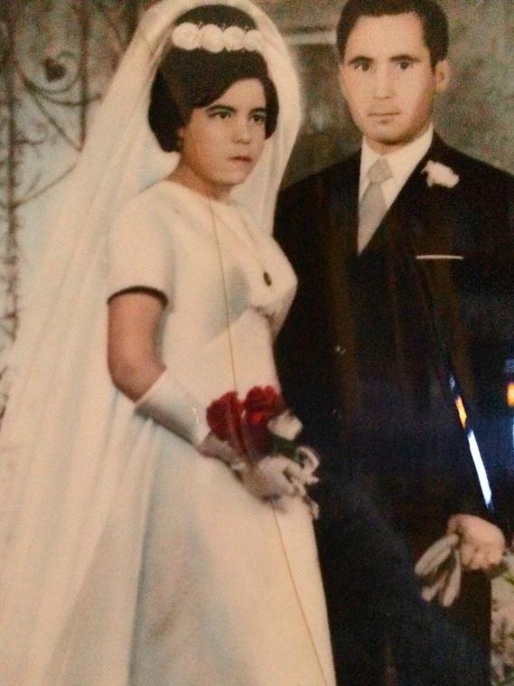 Jacinto y Antonia día de su boda